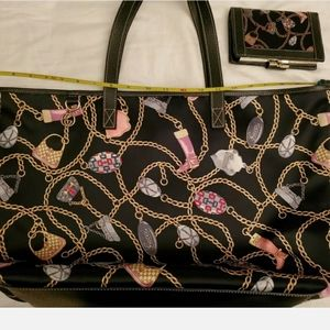 Authentic GUCCI Satin Pattern Tote Shoulder chains